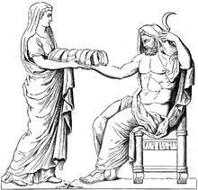 """Numérisation Google: """"Basis mit Geburtsmythos des Zeus / Iupiter"""" Skizze, Original: Kapitolinische Museen, Inv.-Nr.: 1944"""