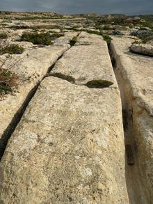 Ramessos: So-called cart-ruts near Dwejra point, Gozo (Malta)