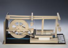 Universität Leipzig, Antikenmuseum (Marion Wenzel + M. Meinecke): Modell einer Steinsäge, Ephesos Hanghaus 2, 6./7. Jh., Maßstab 1:13