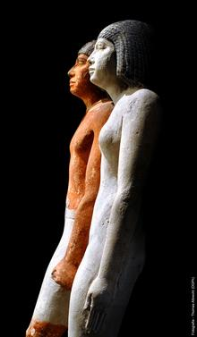 Universität Leipzig, Ägyptologie (Marion Wenzel): Schreitende Statuen, Ägyptische Steinpalstik (Ägyptisches Museum Inv. ÄMUL 3684)